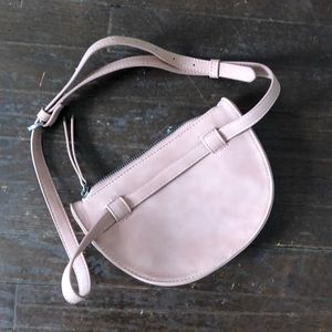 Blush Pink Faux Suede Adjustable Fanny Pack